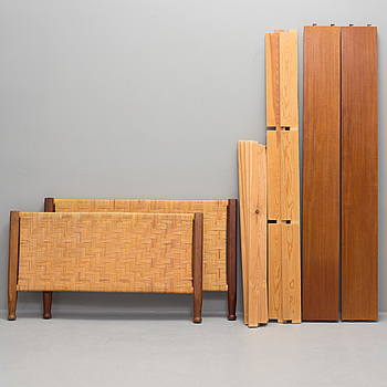 JOSEF FRANK, JOSEF FRANK, a model 520 mahogany and rattan bed from Svenskt Tenn.