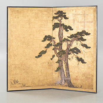 A folding screen from Japan, first half of the 20th century.