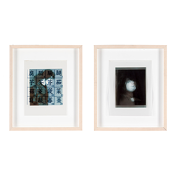 GARY INDIANA, diptych, collaged archival ink jet print, 2005.