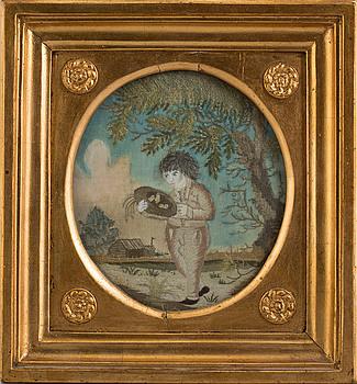SIDENBRODERI, 1800-tal.