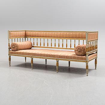 GUSTAVIANSK, A Swedish late gustavian sofa, ca 1800.