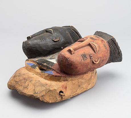 Mask, baule, ivory coast.