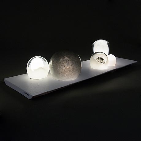 A light sculpture 'polar night' signed sini majuri.