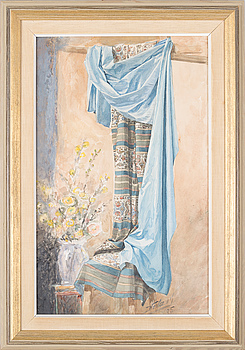 JOHN HEDAEUS, a watercolor, signed and dated -95.