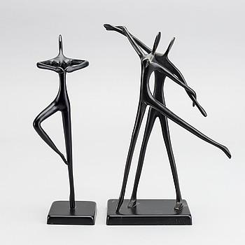 Two metal sculptures by Bodrul Khalique.