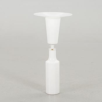 BORDSLAMPA, vitt opakt glas, Luxus design, Uno och Östen Kristiansson.