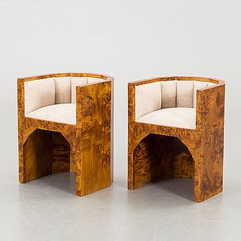 A pair of armchair, 20th century,