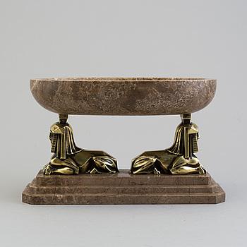SKÅL, brons och marmor, art déco, 1930-tal.