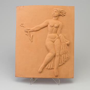 CARL MILLES, relief, terrakotta, stämpelsignerad och numrerad 78/200.
