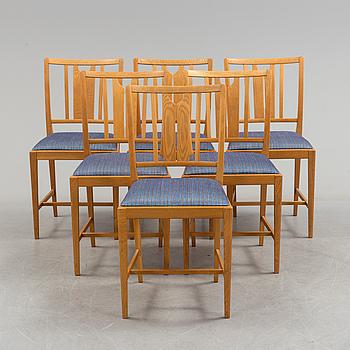 CARL MALMSTEN, stolar, 6 st. 1900-talets andra hälft.