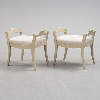 A pair of first half of the 19th century stools.