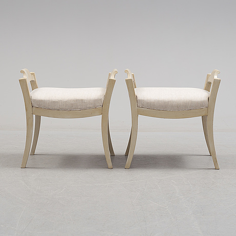 A pair of first half of the 19th century stools