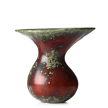 95. HANS HEDBERG, a faience vase, Biot, France.