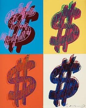 "237. Andy Warhol, ""$ (Quadrant)""."