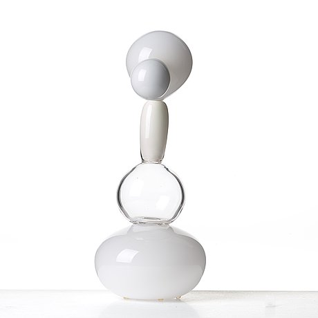 "Matti klenell, a unique matti klenell free blown glass ""urn"" sculpture, executed at the michael davis studios, queens, new york 2004."