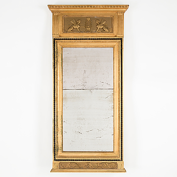 GUSTAVIANSK, A Swedish late Gustavian mirror made in Stockholm. Dated 1794.