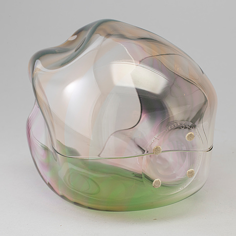 Gunnar cyrÉn, a 'cyrano' glass vase from orrefors, signed and dated 85