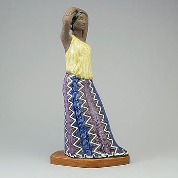MARI SIMMULSON, skulptur, stengods, Upsala Ekeby, numrerad 38/100.