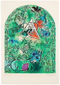 520. Marc Chagall After, MARC CHAGALL, after, lithograph in color, on Arches paper, signed and numbered 88/150.