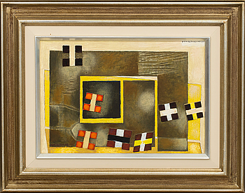 ERIK OLSON, ERIK OLSON, oil on board, signed and dated 1963.