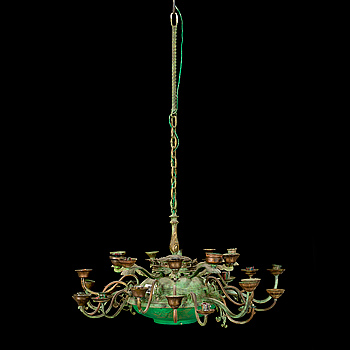 LARS STOCKS, chandelier / sculpture, signed and dated 1979 on label.