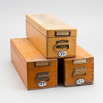 PROJEKTORBILDER, glaspositiv, 1900-tal. Tre lådor världen.