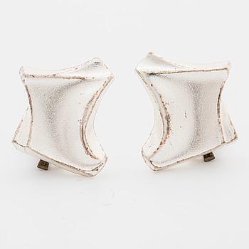 BJÖRN WECKSTRÖM, BJÖRN WECKSTRÖM, a pair of silver earrings, Lapponia,