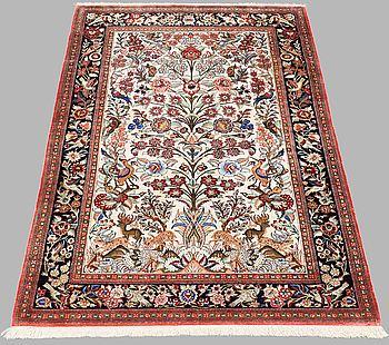 MATTA, Figural silke Ghom, ca 150 x 97 cm.