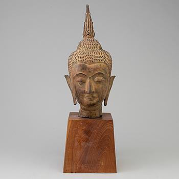 BUDDHAHUVUD, brons. Thailand, 1900-talets första hälft.