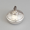 A swedish art nouveau lidded silver box topped with a chipmunk, maker's mark carl sandberg, ystad, 1919