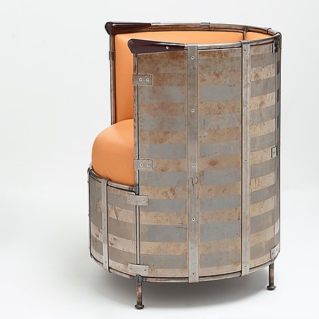 "Mats theselius, an easy chair, ""Älgskinnsfåtöljen"", källemo, sweden post 1991"