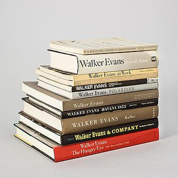 Fotoböcker, 11 st, Walker Evans.