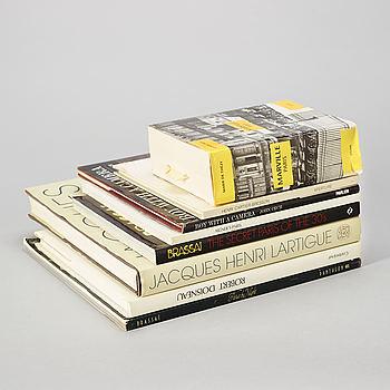 Photo books, 8, French photographers e.a Cartier-Bresson, Brassai and Lartigue.