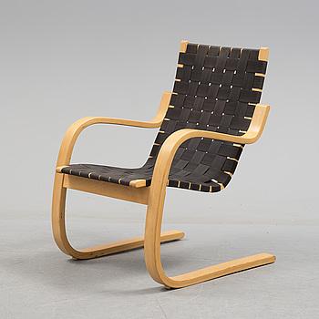ALVAR AALTO, karmstol, modell 406, Artek, 1900-talets andra hälft.
