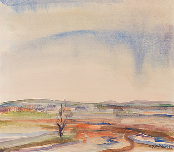 NANDOR MIKOLA, watercolour, signed and dated -42.