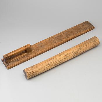 MANGELBRÄDE MED RULLE, daterat 1784.