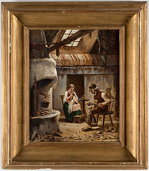 SEVERIN NILSON, SEVERIN NILSON, oil on canvas, signed and dated 1873.