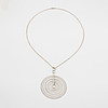 "Tapio wirkkala, a ""silver moon"" pendant, n. westerback, 1971."