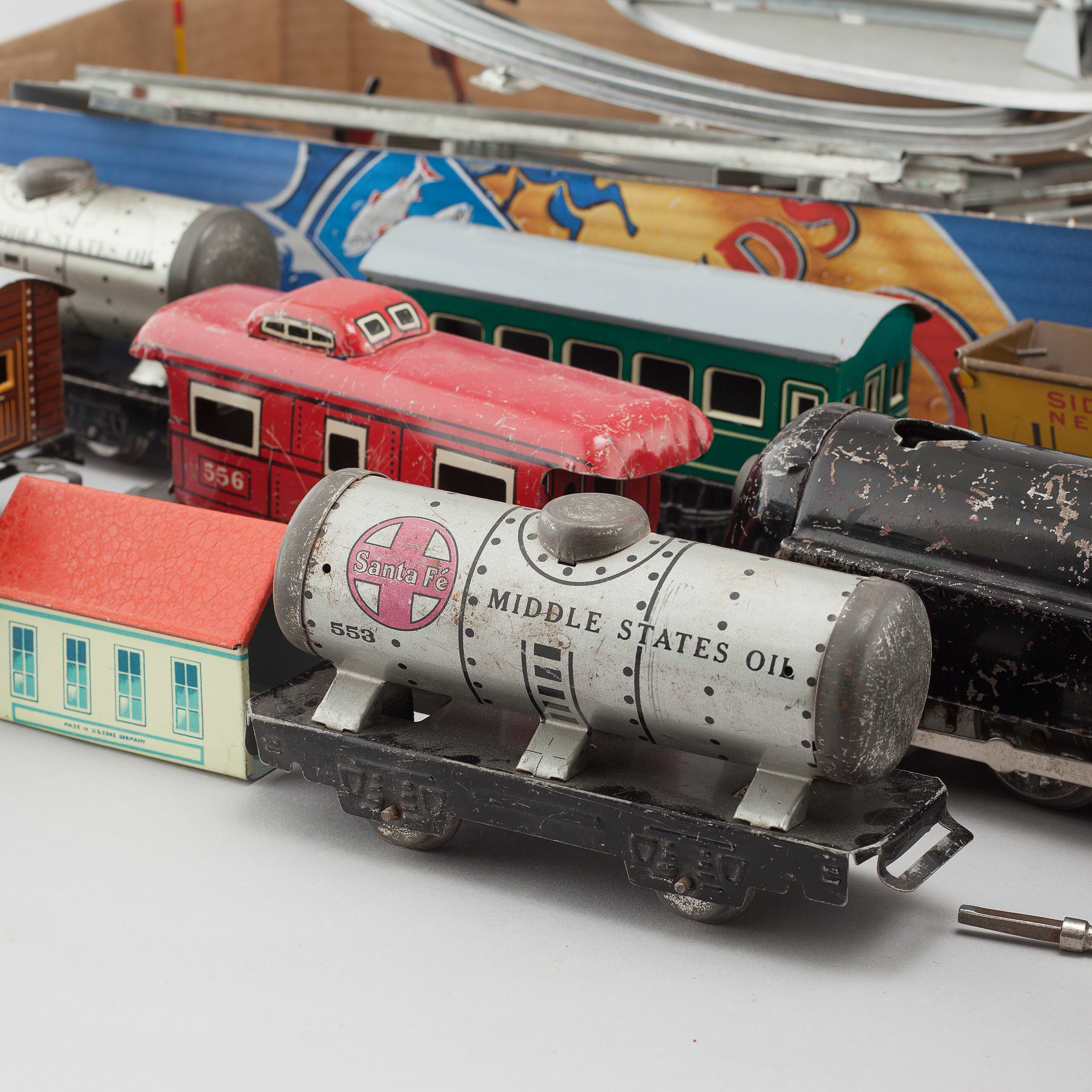 A set of model trains, Marx and Heinrich Wimmer HWN , USA and