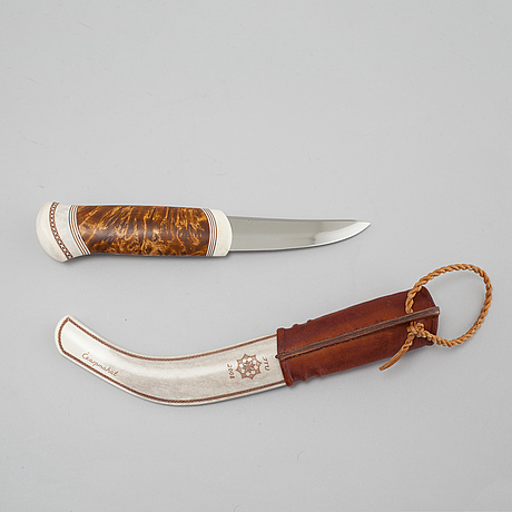 A knife by jon tomas utsi, signed jtu and dated 2008.