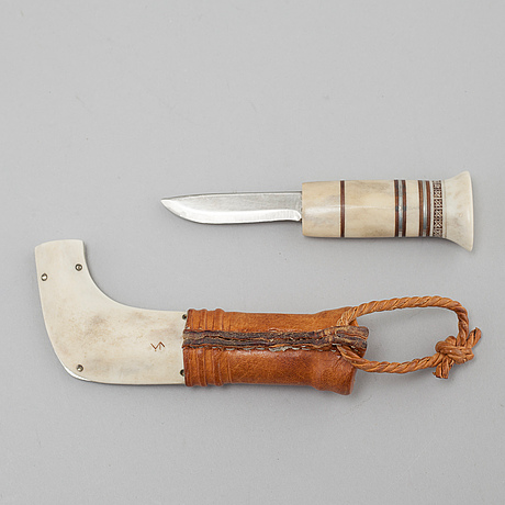 A knife by sune enoksson, signed and dated  86