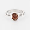 Ring, med med turmalin ca 1.50 ct samt briljantslipade diamanter ca 0.14 ct totalt