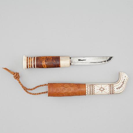 A knife by lars levi sunna, signed.