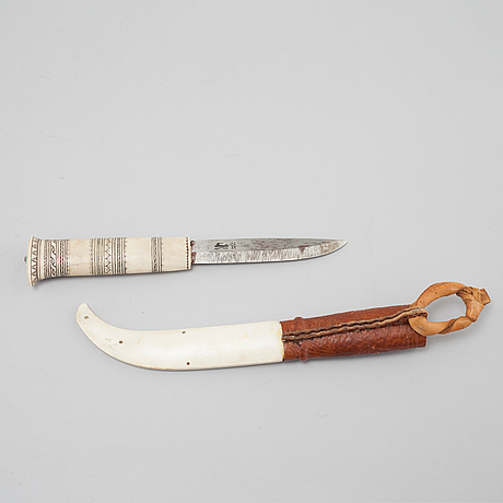 A knife, unclear signature f?, second half of the 20th century.