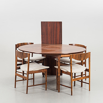 IB KOFOD LARSEN, a five pcs dining set.