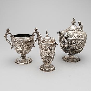 TESERVIS, 3 DELAR, silver, Samuel Strahan, London 1871-72.
