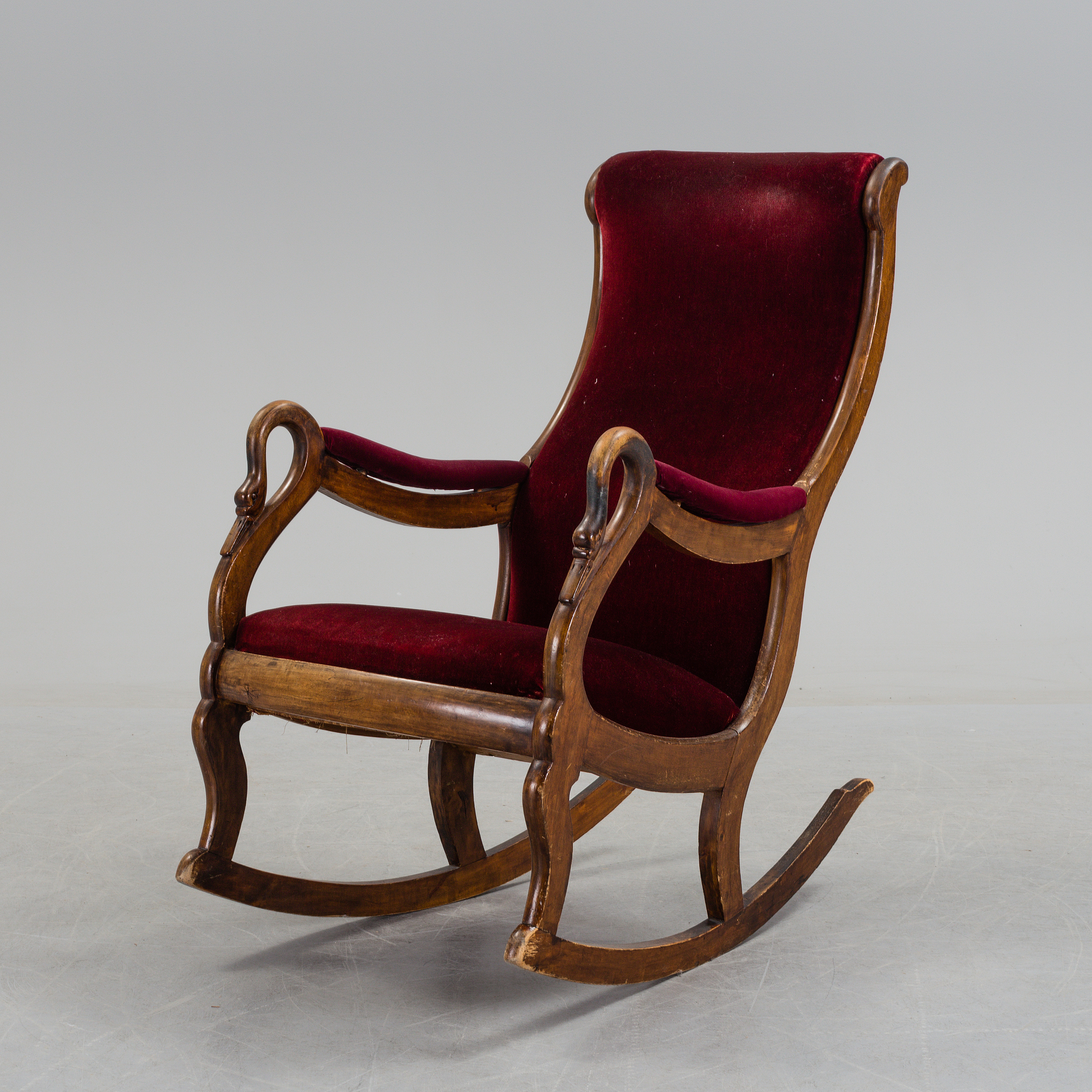 Tremendous A 19Th Century Swan Arm Rocking Chair Bukowskis Ncnpc Chair Design For Home Ncnpcorg
