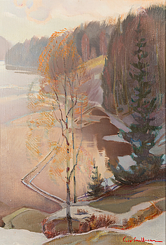 EERO SNELLMAN, oil on canvas, signed.