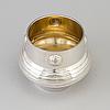 A swedish art nouveau parcel gilt bowl, maker's mark cg hallberg, stockholm 1904
