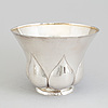 A swedish art nouveau parcel gilt bowl, maker's mark ab samuel pettersson, linköping 1922